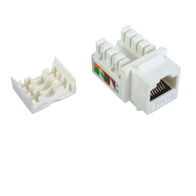 Cat5e RJ45 Keystone Jack UTP Punch Down Toolless Keystone Jack ISO Standards