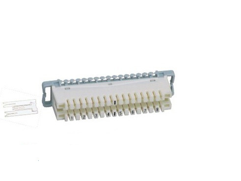Silver Coated Krone LSA Module 8 Pairs , ABS / PBT Krone Connection Module For Telecom