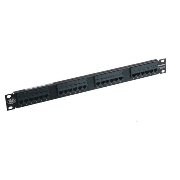 "Modularization Design 110 IDC UTP Patch Panel 24 Port Cat5e For 19""Cabinet"